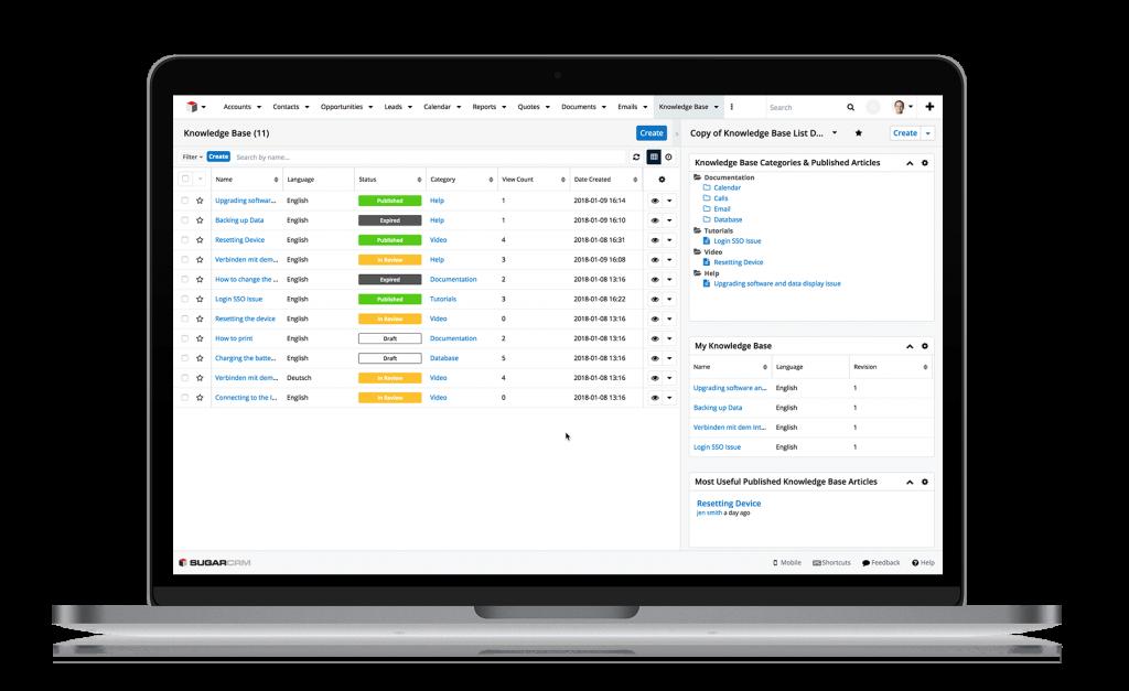 Die wichtigsten CRM-Funktionen - Teil3 Customer Service - Service Desk Übersicht über offene Supportfälle