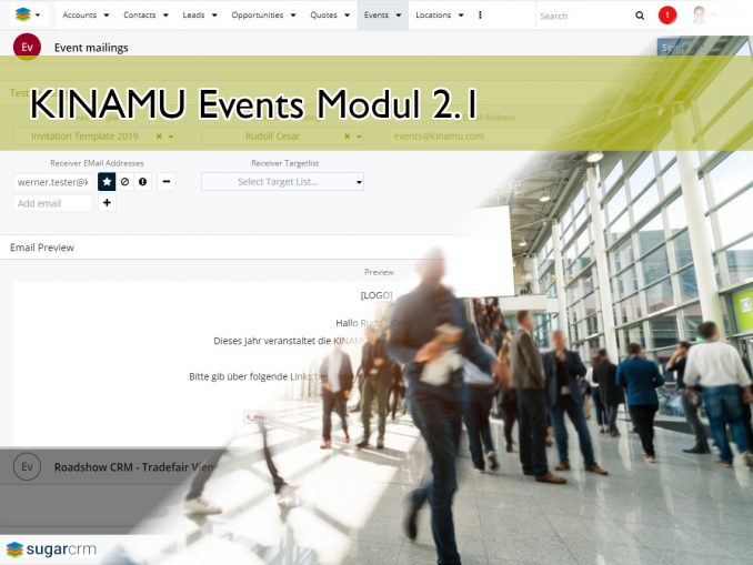 Hero Image. Screenshot with Event Attendees